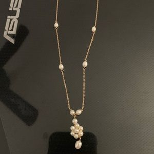 14k Gold & Pearl Necklace Authentic